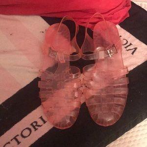 Forever 21 pink jelly Sandels brand new